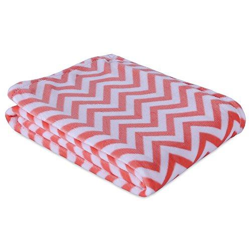 Berkshire Blanket Velvety Plush Chevron Throw Blanket Fiesta Simple Pink Chevron Throw Blanket