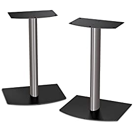 Bose FS-1 Bookshelf Speaker Floor Stands (pair) - Black and Silver 54 Conveniently turn your Bose bookshelf speakers into floor standing speakers Sold as a pair Compatible with Bose 301 and 201 direct/reflecting speaker systems