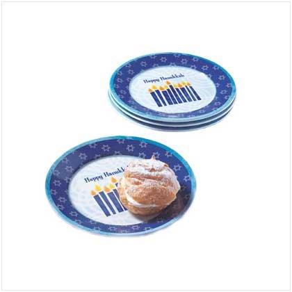 Hanukkah Dessert Plates Set Of Four Kitchen Party Decor