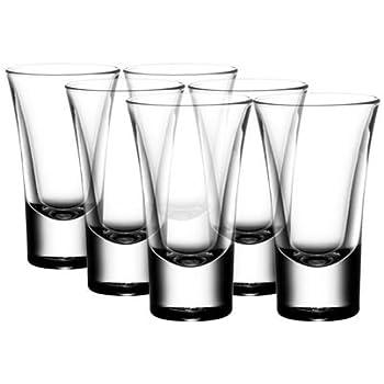 Gmark 2-Ounce Heavy Base Shot Glass Set, Whiskey Shot Glass 12-Pack GM2026