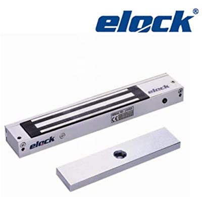 Elock 600lbs MagLock/Electromagnetic Lock with LED, Holding Force for Access Control 12/24 VDC