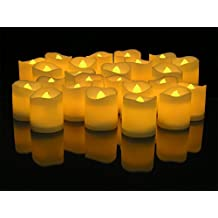 DLAND LED Lighted Flickering Votive Style Flameless Candles Pack of 24