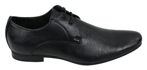 Mens Negro Tan Brown de cuero perforado Diseñador Zapatos italianos Casual negro