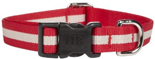 Harry Barker Eton Collar - Red & Tan - Medium - 12-20 inch