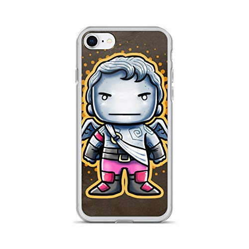 iPhone 7/8 Case Anti-Scratch Animated Cartoon Transparent Cases Cover Soldier Video Game Chibi Style Cartoons Caricature Crystal Clear