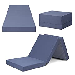 Sleep lace 4 inch tri-folding memory foam topper (Grey) is the ideal option for visitors, sleepovers, car trips, camping or dorm room bed. Portable and comfortable mattress, no pain in the back or neck when people sleep on it. Complete with s...