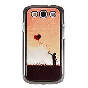 Flying Love Balloon Pattern Mirror Smooth Back Hard Case with HD Screen Film 3 Pcs for Samsung Galaxy S3 I9300