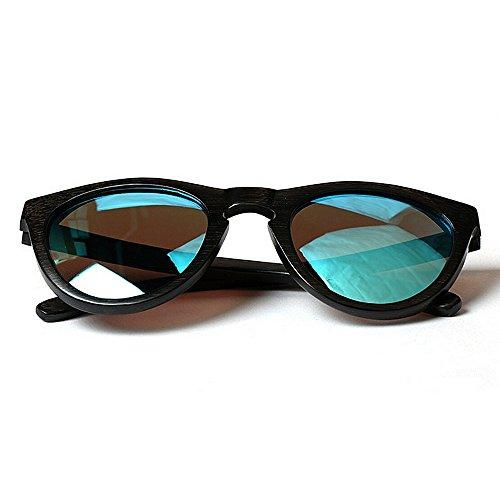 sol de marco Gafas de Retro madera Gafas para la gafas hombres sol las hechos gato personalidad Ojos conduce de mano que Protección de de ULTRAVIOLETA bambú los Negro de Gafa Sunglasses Beach a del de sol rxHXnEXwA