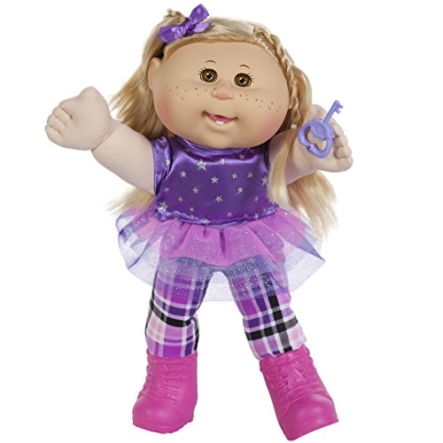 "Cabbage Patch Kids 14"" Kids - Blonde Hair/Brown Eye Girl Doll in Rocker Fashion"