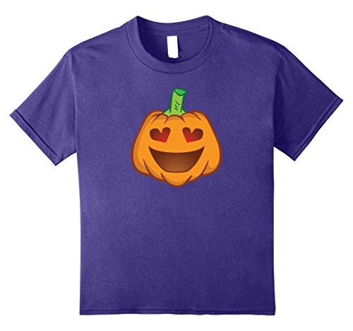 Smiley Costume Halloween (Kids Pumpkin Face Shirt - Smiley Pumpkin Shirt Halloween Costume 8 Purple)