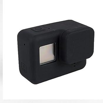 Silicone Case Soft Protective Cover+Lens Cap For Xiaomi Xiao Yi 2 II 4K Camer BL