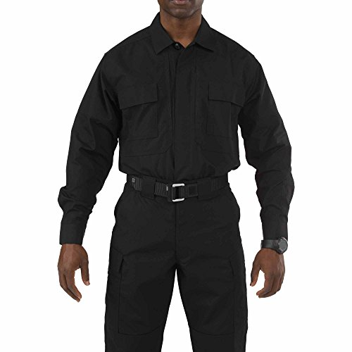 (5.11 Tactical Taclite Polyester-Cotton Ripstop Fabric TDU Long-Sleeve Shirt, Style 72054)
