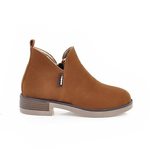 Yellow Boots Slip Comfort Platform Womens Resistant Suede ABL09949 BalaMasa T6OwHR