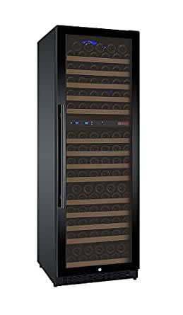 Allavino FlexCount VSWR172-2BWRN 172 Bottle Dual Zone Wine Refrigerator with Black Door