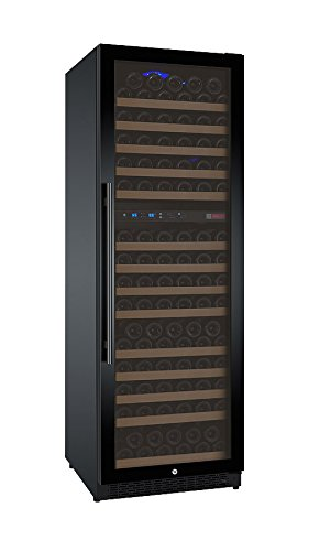Allavino FlexCount VSWR172-2BWRN 172 Bottle Dual Zone Wine Refrigerator with Black Door