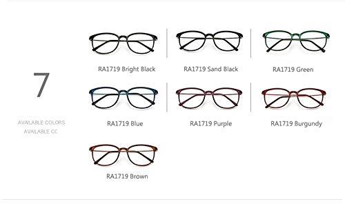 Mujer Grau Lentes Delgadas Gafas oculos Gafas granate Hykis Gafas para Transparentes Pierna Gafas Retro Hombre Black de para de Vintage Bright Retro para cuadradas Marco de Unisex q11TtgRv