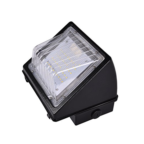 48W LED Wall Pack Lights, 250W MH/HPS Replacement, 5000K, 4800 Lumens, Outdoor Lighting Fixture, Waterproof Security, UL Listed