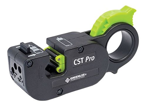 Greenlee Communications 1282 CST Pro Coax Stripper 3 Level, Black Cassette .344/.094 ()