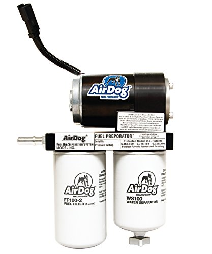 (AirDog 150 Gallons Per Hour (GPH) Flow Rate For 2001-2010 Chevrolet/GM Duramax Diesel With LB7, LLY, LBZ, & LMM Engines Preset At 8psi Single Piece Pump Body - No Drilling Required)