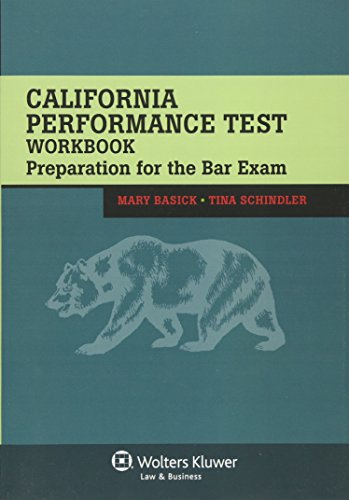 Pdf Law California Performance Test Workbook: Preparation for the Bar Exam (Bar Review)