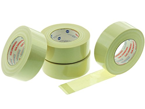"4pk Extreme Duty 2"" in x 60 yd Fiberglass 250 lb Strength Reinforced Packing Filament Strapping Tape 6 Mil Thickness (1.88 inch 48 MM)"