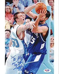 Tyler Hansbrough Signed 8x10 Photo North Carolina To Alexa - PSA/DNA Authentication - Autographed NCAA College Football Photos ()