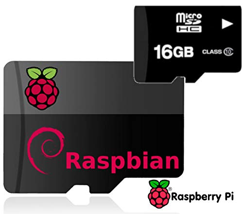 16GB Raspberry Pi Noobs Preloaded Micro SD Card, Fast Class 10, Works with Pi 3 Model B+ (Plus), Model B, Pi 3 Model A+, Pi2, Zero | Compatible with All Pi Models