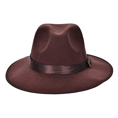 Coffee Black Vintage Blower Jazz Hat Trilby Derby Cap Fedora Style Hats Wholesale Women Men -