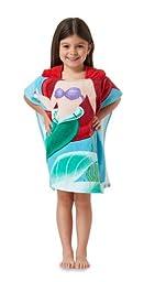 Disney Ariel the Little Mermaid Hooded Bath Towel Poncho