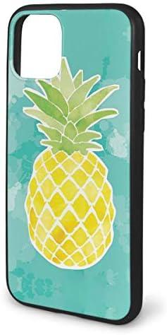 水彩パイナップル IPhone 11用シリーズケース、クリアソフトTPUシリコーン耐衝撃ケースiPhone 11 Pro用保護ケース、6.1インチケース
