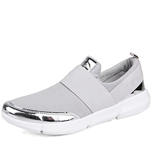 Zenobia Ezkrwxn Slip on Shoes for Women Loafers Flats Breathable Comfortable Fashion Sneakers (866grey39) For Sale