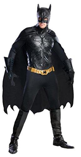 Rubie's Batman The Dark Knight Rises Grand Heritage Deluxe Batman, Black, Large Costume