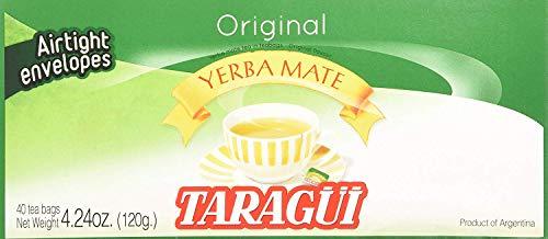 Taragui Yerba Mate - 40 Tea Bags - Yerba Mate En Saquitos - PACK OF 3