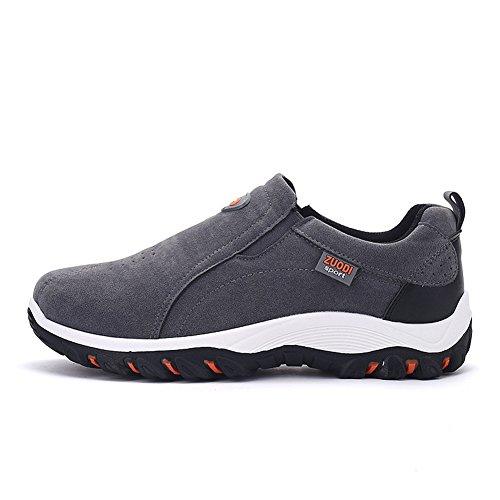 Führer Show Herren Wildleder Fashion Sneaker, Herbst Outdoor-Sportschuhe auf Schuhe Grau