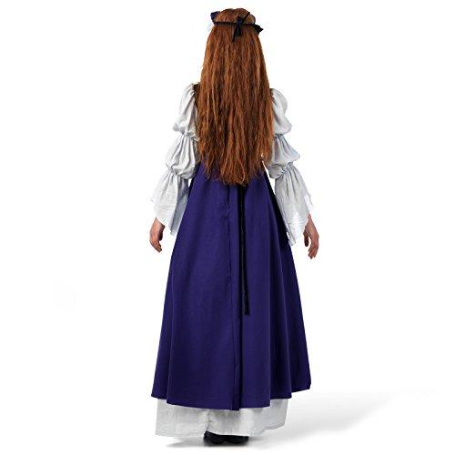 De Plus Dames Costumes Robe Mlle tête Médiévaux Serre Clarisa Habillées S Et Longueur Violet Plancher Avec vrqH5rwgn