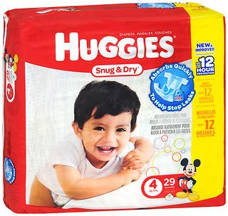 Price comparison product image Huggies Snug & Dry Diapers Size 4 - 4 Packs of 29 ct, Pack of 2