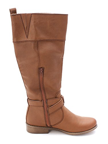 Callie Toe Fab Working Just Womens Calf Brown Boots Mid Closed x7WWgv