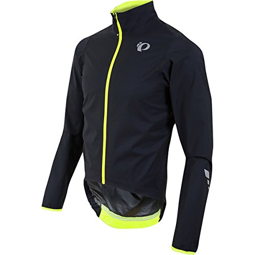 Pearl iZUMi Men's Pro Aero WXB Jacket, Black/Screaming Yellow, Large by Pearl iZUMi
