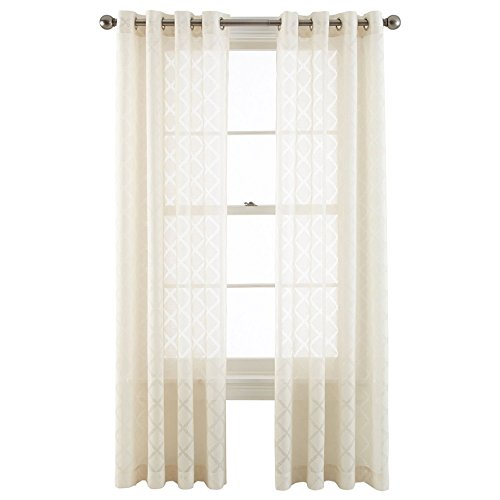 Grommet Top Velvet Panels (Royal Velvet Adair Sheer Grommet Top Curtain Panel A Pair of 2 Panels (50