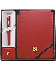 Cross Presentset Ferrari Century II Rosso Corsa Rollerball och Ferrari anteckningsbok i rött
