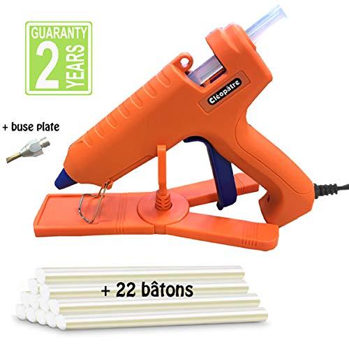 para bricolaje y reparaciones o decoraci/ón y manualidades Naranja Maxi Incluye 24 recambios Cl/éop/âtre LOTPOPCMAX-1 Pistola de cola profesional