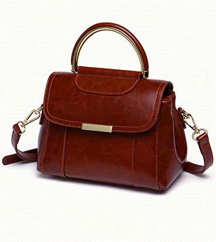 Shoulder New Wild Bolso Bolso Leather SHENHAI Bag Marrón Marrón Crossbody Lady Bolso para para Mujer Portable señora EzxBq