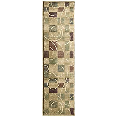 """Nourison Expressions Area Rug 2'3"""" x 8'/Beige/Runner - Pile Height 0.5 Dimensions 27"""" x 96"""" x 0.50"""" Construction Machine Woven - runner-rugs, entryway-furniture-decor, entryway-laundry-room - 411Z7 fMw1L. SS400  -"""