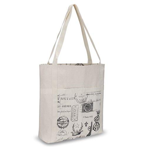 Kuzy - Paris Beach Bag Handmade from Heavy Canvas Cotton ...