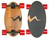 Eggboards Mini Longboard Cruiser Skateboards - Small Board for Adults and Kids with Wide Skateboard Deck 19 Inch in Bamboo Wood and Large Longboards Wheels