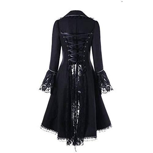 Et Outerwear Longues Manteaux À Manches Taille De Chejarity La Col V Blouson Smoking Lingerie Robe Veste Vintage Gothique Overcoat Femme Noir ymNn0w8OvP