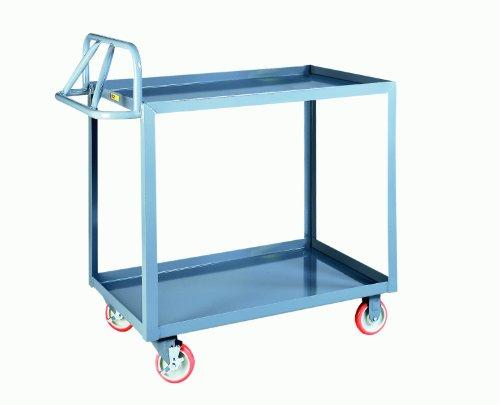 - Little Giant ERLGL-2448-BRK Ergonomic Shelf Truck with Lip Edge, 1200 lbs Capacity, 48