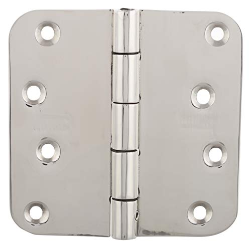 4' Steel Hinge Pin - SSiSKCON 4 INCH STAINLESS STEEL GATE Hinge With Removable Pin,4''X 4'',Satin Finish,Hgs-404025Rb-Sb-32D, 5/8 Radius, Heavy Duty.(3Pcs HINGES With 24 Screws)Reversable Technic (Inswing & Outswing Doors