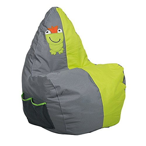Livebest Children Bean Bag Chair-Stuffed Animal Storage Sponge for Kids-Toy Pouf,Green 21x18x35 by Livebest
