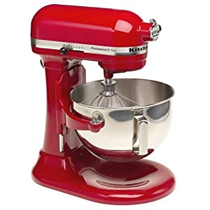 KitchenAid Professional HD Stand Mixer RKG25H0XER, 5-Quart, Empire Red, (Certified Refurbished)